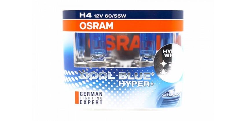 H4 Cool Blue Hyper+ Bohlam Bohlam Depan Halogen 0