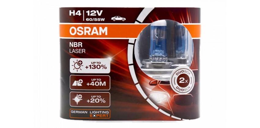 H4 NBR Laser Bohlam Bohlam Depan Halogen 0