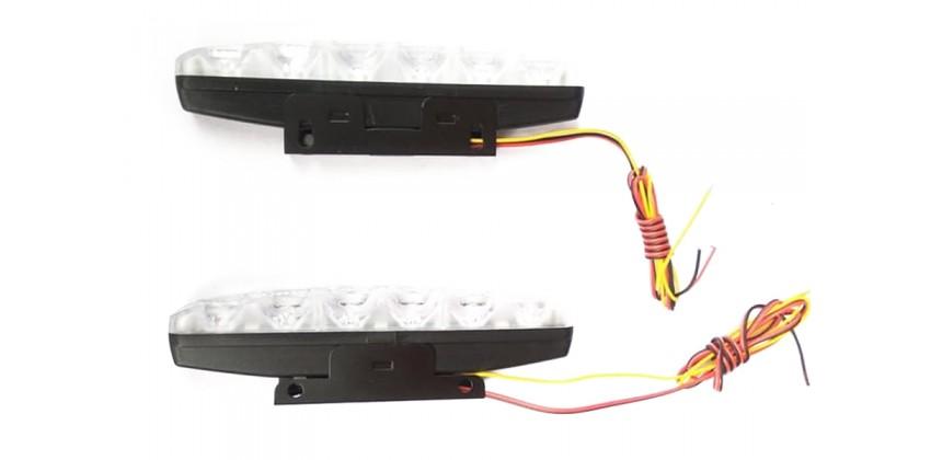 Virgo Racing Lampu LED DRL 6 Mata High Power Isi 2 Pcs Lampu Senja LED 0