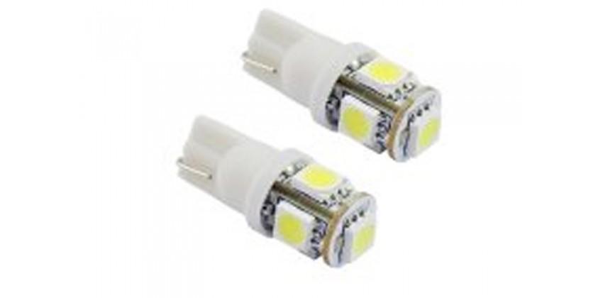 Virgo Racing Virgo Racing 2 Buah LED 5 Mata T10 Untuk Lampu Motor Lampu Senja LED 0
