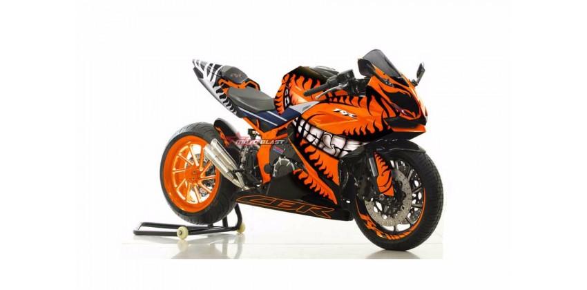 Moto Blast 10565 Custom Decal Orange 0