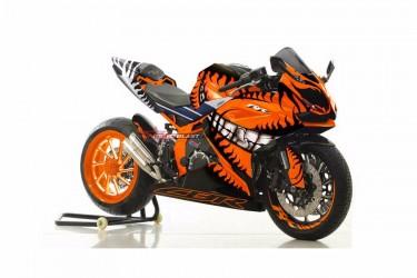 Moto Blast 10565 Custom Decal Orange