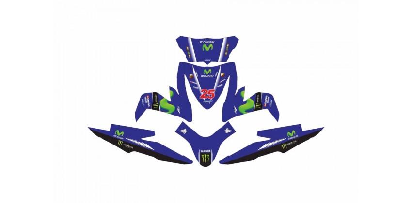 Custom 13168 Movistar Vinales Stripping Biru 0