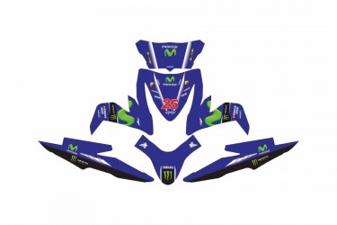 Custom 13168 Movistar Vinales Stripping Biru