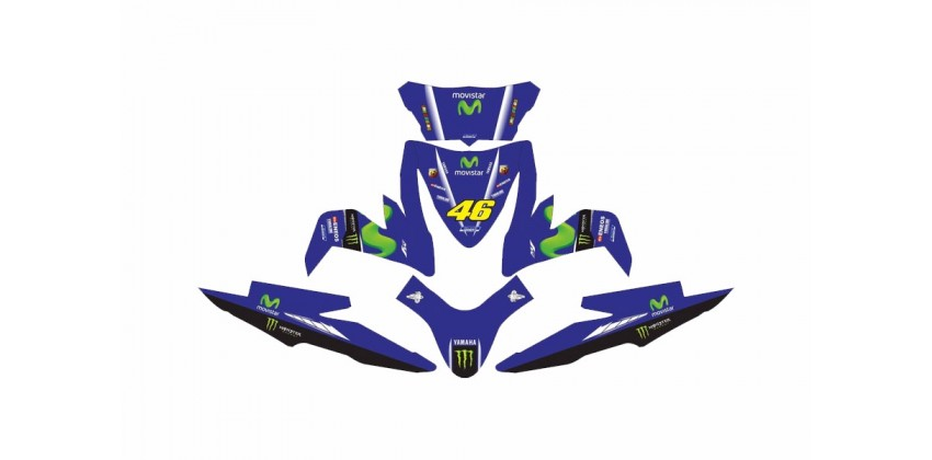 Custom 13170 Movistar Rossi Stripping Biru 0