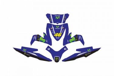 Custom 13170 Movistar Rossi Stripping Biru