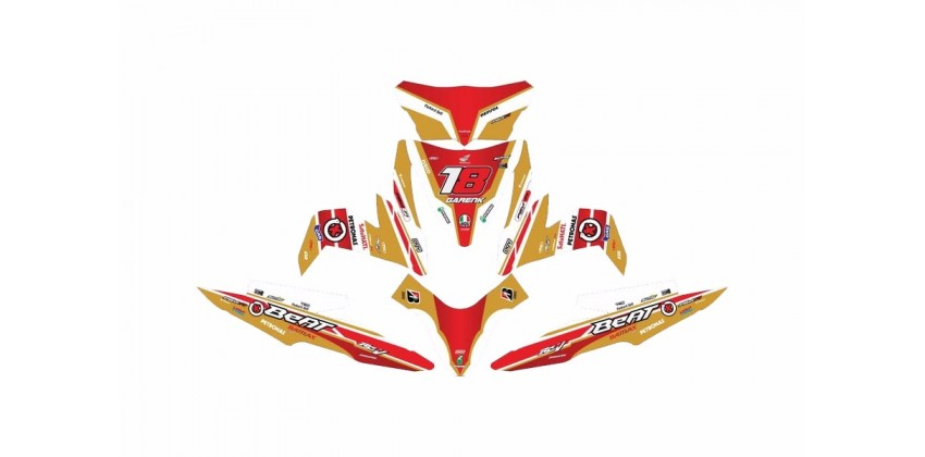 Custom 13175 Gp Gold Stripping Merah 0