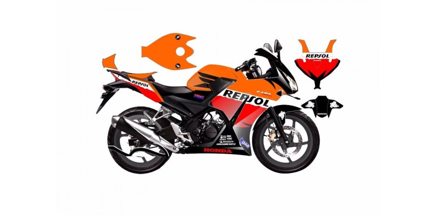 Decal & Stripping Custom Decal Repsol 0
