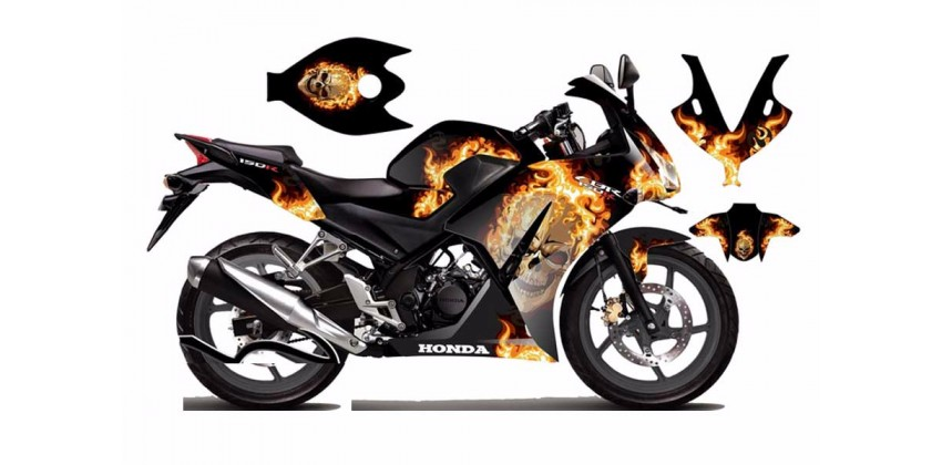 Decal & Stripping Custom Decal Lokal Flaming Skull 0