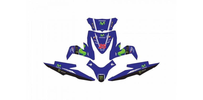 Decal & Stripping Custom Decal Movistar Vinales 0
