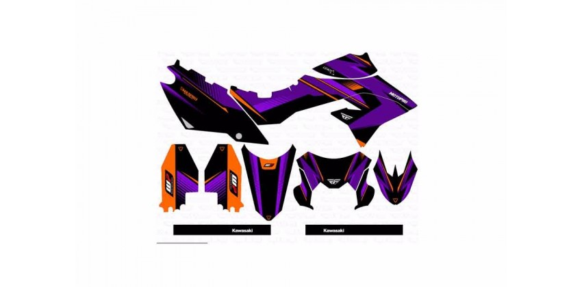 Decal & Stripping Custom Decal Fly Purple 0