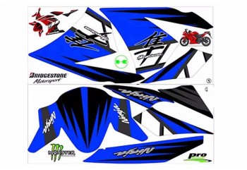 Decal & Stripping Custom Decal Garis Biru