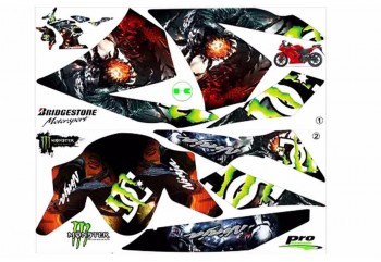 Decal & Stripping Custom Decal Monster Energy