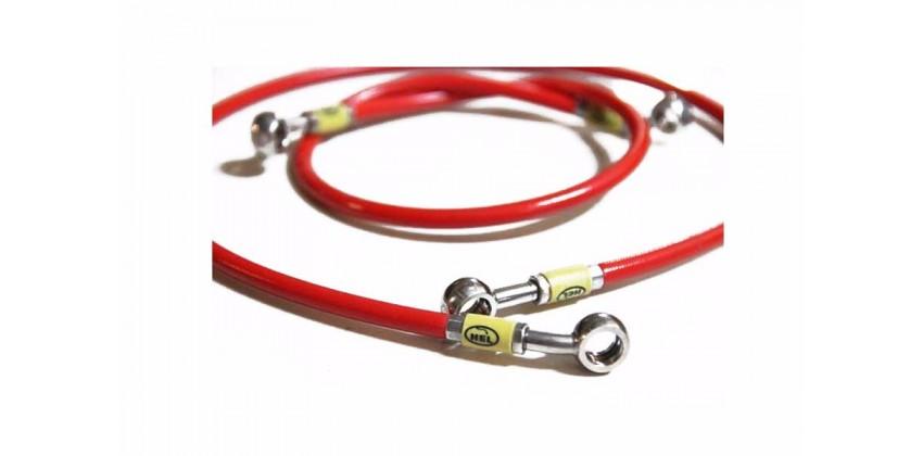 Performance Brake Line Kabel & Selang Selang Rem Depan Merah 0