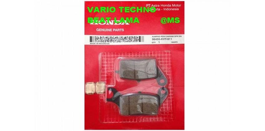 06455-KVY-911 Kampas Rem Cakram Depan Honda Vario Techno 110, Honda Beat 0