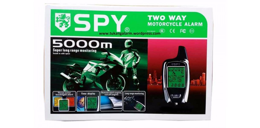 Spy Pengaman Motor Alarm Two Way Remot 0