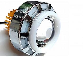 Virgo Racing Angel Eye+Devil Eye Ring Bisa Berkedip Projie LED Putih