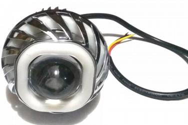 Virgo Racing Angel Eye+Devil Eye / Lampu Proji Model U41 Mini Projie LED Putih