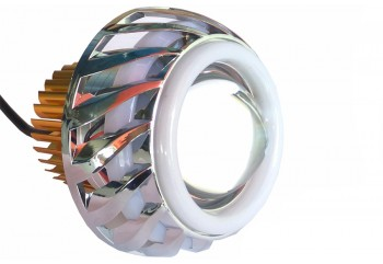 Virgo Racing Angel Eye+Devil Eye / Lampu Proji Model U42 Projie LED Putih