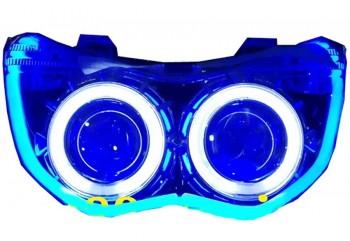 AES Projector 14234 Demon Eyes, Angel Eyes,DRL Projie HID Putih 6