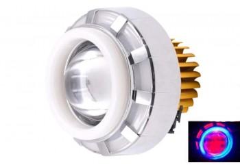 Virgo Racing LED Lampu Projector MINI / Proji Light Angel Eye+Devil Eye Model U28 Mini Projie Putih