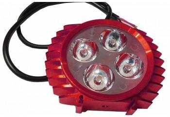 Virgo Racing LED Lampu Sorot Tembak Luxeon 6 Mata Slim - Merah Projie