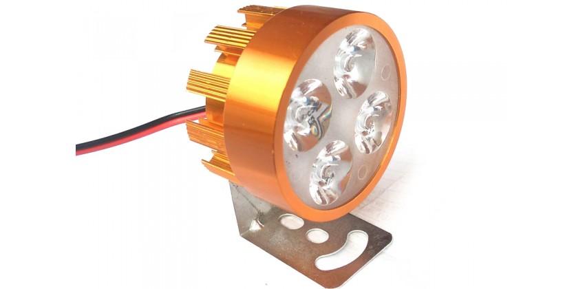 Virgo Racing Lampu Sorot LED 4 Mata Putih Untuk Tambahan Penerangan - Gold Projie 0