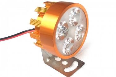 Virgo Racing Lampu Sorot LED 4 Mata Putih Untuk Tambahan Penerangan - Gold Projie