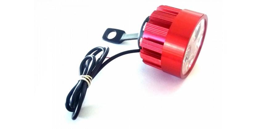 Virgo Racing Lampu Tembak LED 6 Mata Sorot Putih Model Baut di Spion - Merah Projie 0
