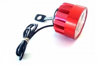 Virgo Racing Lampu Tembak LED 6 Mata Sorot Putih Model Baut di Spion - Merah Projie