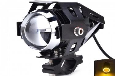 Virgo Racing Lampu Tembak LED U7 Besar Sorot Putih + Eagle Eyes Ring Kuning dan Devil Merah Bonus Kunci L-5 Untuk Pemasangan Projie