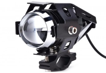 Virgo Racing Lampu Tembak LED U7 Besar Sorot Putih + Eagle Eyes Ring Merah dan Devil Biru Projie