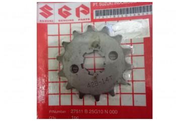 Suzuki Genuine Part 27511B25G00N000 Gir Depan 14T