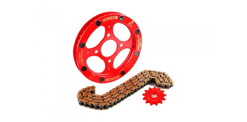 Rantai & Gir Chain Kit  Merah 0