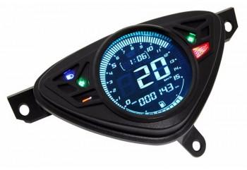 GP Style Speedometer Speedometer Digital 8 lampu latar warna