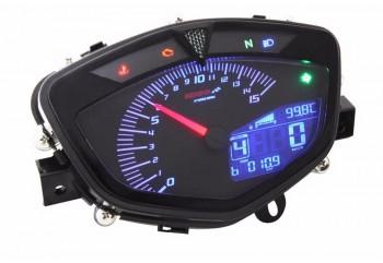 Koso GP Style 25102-55S57-BA521 Speedometer Analog Dengan 8 lampu latar warna