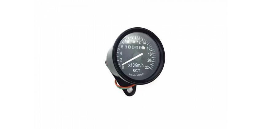 SCT-1203 Speedometer Speedometer Analog Black / Crome 0