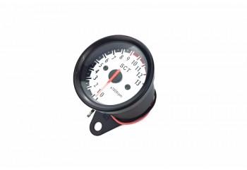 SCT-1205 Speedometer Tachometer Black / Crome