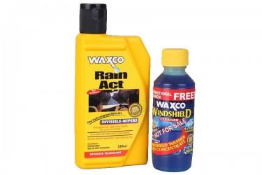 Waxco Rain Act + Windshield Cleaner Cairan Pembersih 250ml