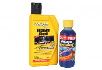 Waxco Rain Act + Windshield Cleaner Cairan Pembersih 250ml