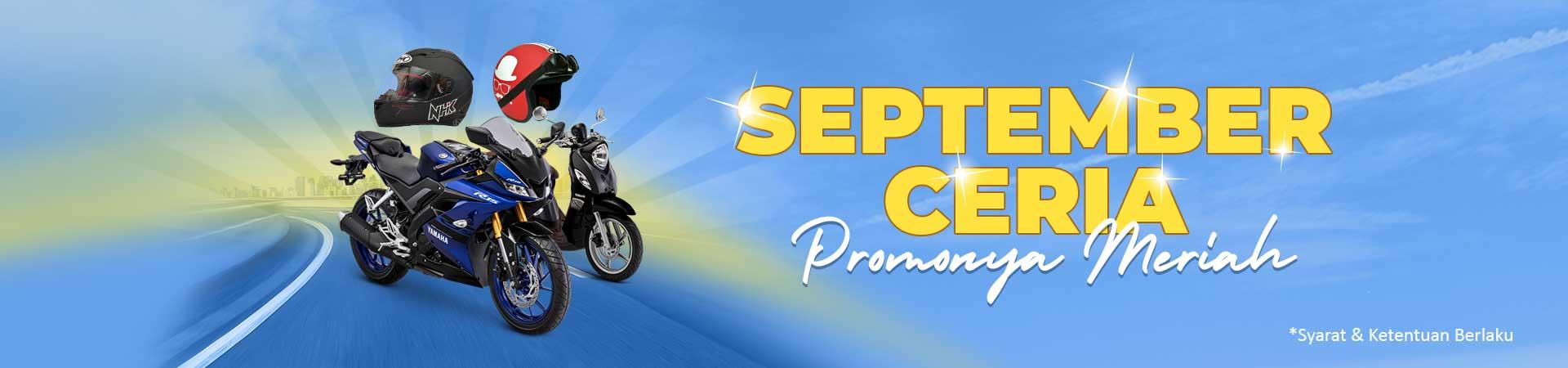 September Ceria Promonya Meriah! Diskon DP Motor Hingga 2,8 Juta!