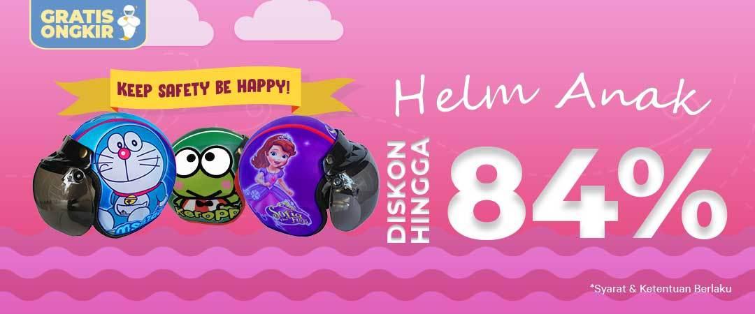 Harga Helm Anak Promo dari Moladin - Diskon Hingga 84%