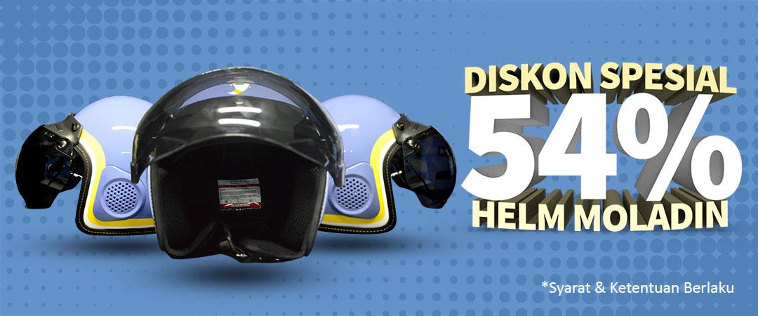 Diskon 54% Helm Moladin
