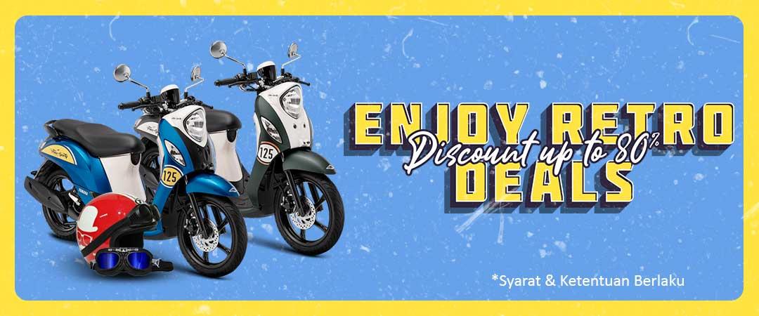 Enjoy Retro Deals - Diskon Produk Helm, Jaket dan Motor Retro