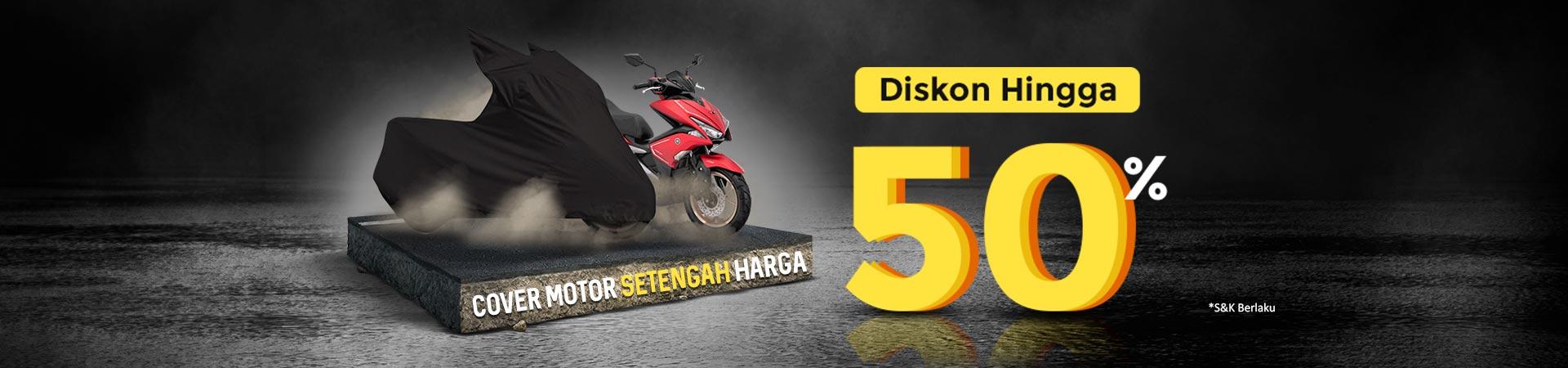 Diskon Cover Motor Setengah Harga