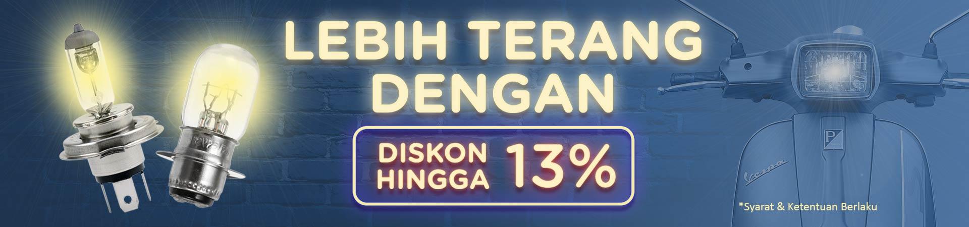 Diskon Lampu Motor Hingga 13%