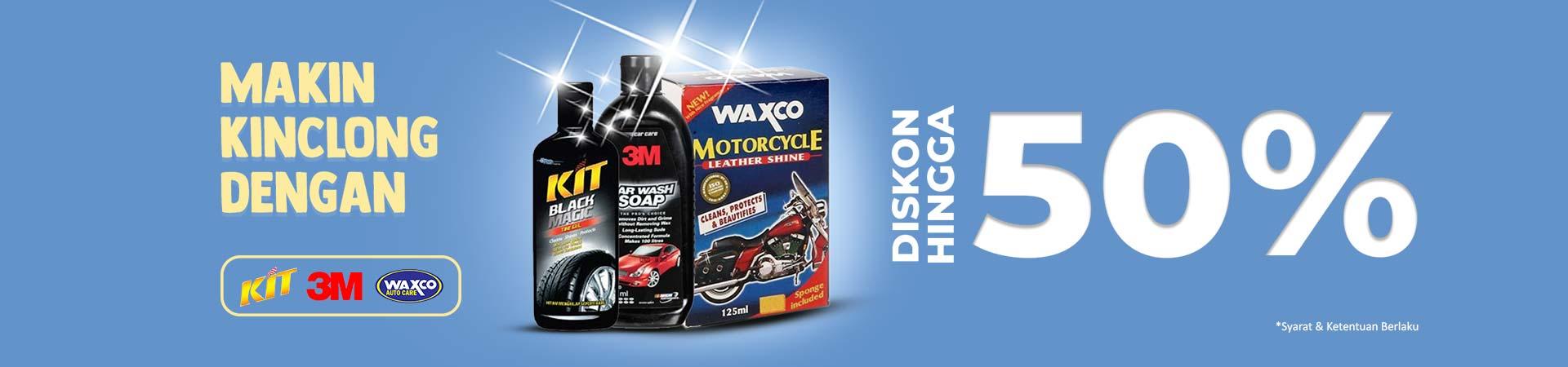 Promo Shampo Motor Waxco, Kit dan 3M