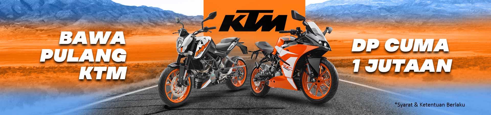 Diskon DP KTM - DP Mulai Dari 1 Jutaan