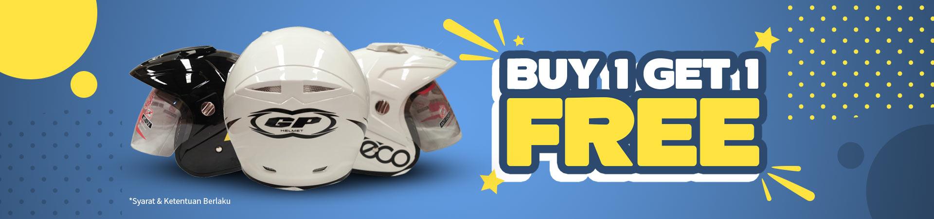 Promo Helm - Buy 1 Get 1 Free