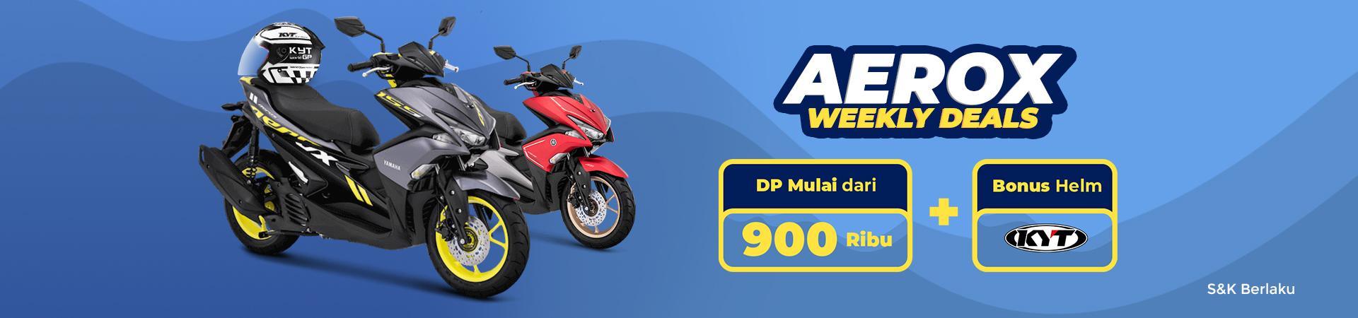 Aerox Weekly Deals! DP Mulai Dari 900 Ribu Plus Gratis Helm KYT